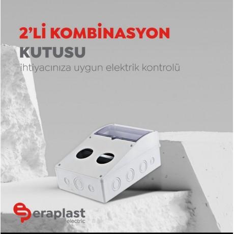 Eraplast 2'Li Kombinasyon Kutusu (Boş)