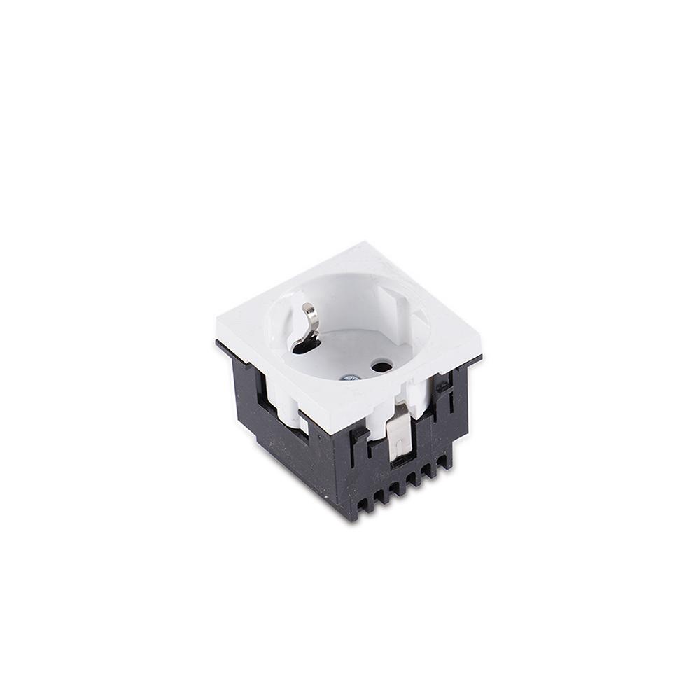Eraplast 45x45 Topraklı Priz (Beyaz)